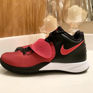 Side View University Red, Black and White Colorway Kyrie Flytrap 3 Basketball Shoe