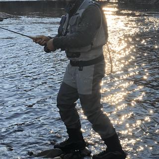 Oconaluftee River - Qualla Reservation Cherokee, NC December 2020. G3 Guide  waders, vest & boots