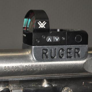 Added a homemade mount to attach with Ruger Mark II - Love this Vortex Venom Sight - So easy to use