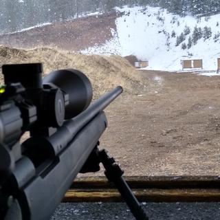 Getting the Burris RT15 sighted in.