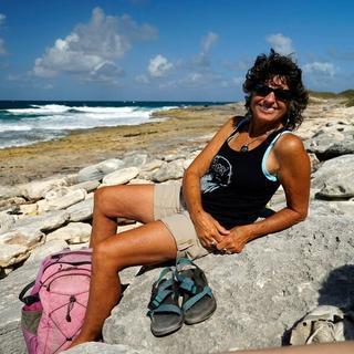 East coast of Eleuthera Island, Bahamas in my Punchbowl frames on a beautiful blue sky, sunny day