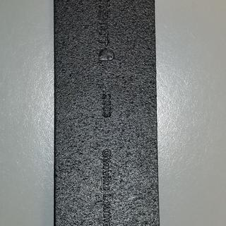 Genuine leather stamping on belt