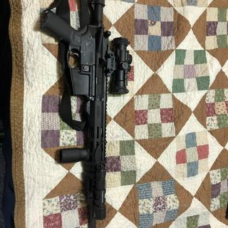 Full rifle with muzzle device installed