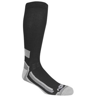 New version in black, even-length stripes of rear-only ankle brace and see thru calf section.