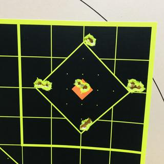 Out of the box, after zeroing at 25 yds.