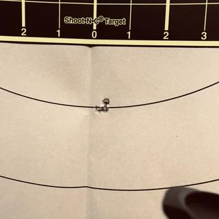 Out of the box, no zeroing at 25 yards.