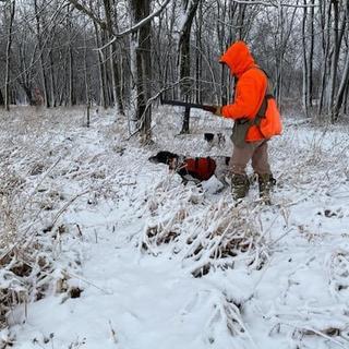 On a pheasant hunt with my new Filson Ridgeway Fleece Pullover. I was comfortable @ 29 deg.