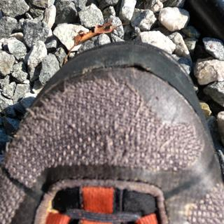 Toe cap separating from boot. Fabric material is disheveled at best and is wearing out.  (left boot)