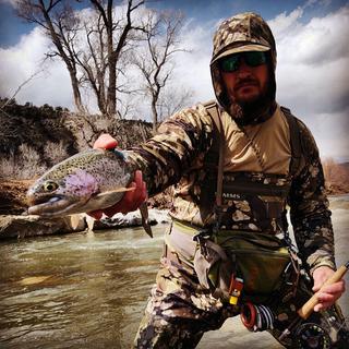 Pieadra river.  Catching big rainbows in my bug stopper