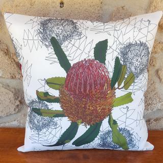 Eco-Tex pieza residual canvas-algodón impresión digital tropical Poppy Design 100 x 140