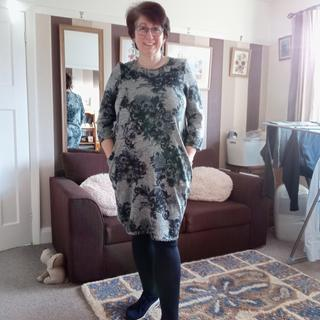 Grey /blue slouch dress same style and fabric