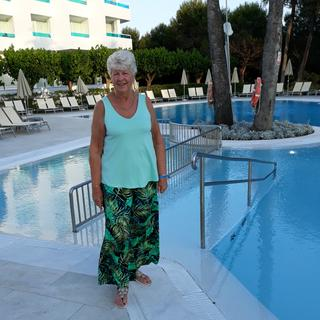By the pool in Menorca