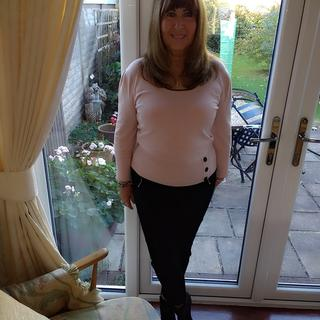 Nice top with lots of stretch. Very comfortable. I like it