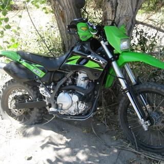 KLX650 with Dunlop D606 dual sport tires, somewhere in northern Nevada
