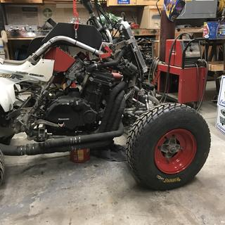 Custom built atv 1100cc Kawasaki in a 660 Raptor Yamaha