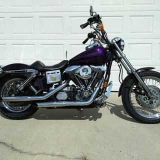 1996 HD Dyna Low Rider with new Shinko 712 tires (front and rear)