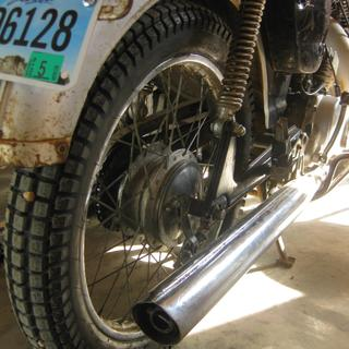 New Shinko Tire on my '66 Yamaha YL1. So far, so good!