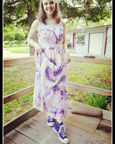 My 14yo wore her Hyper... (Violet??) high-tops to Pride Prom underneath her matching gown, and she looked amazing. Full of smiles and joy, she was delighted to represent. LOVE her kicks!