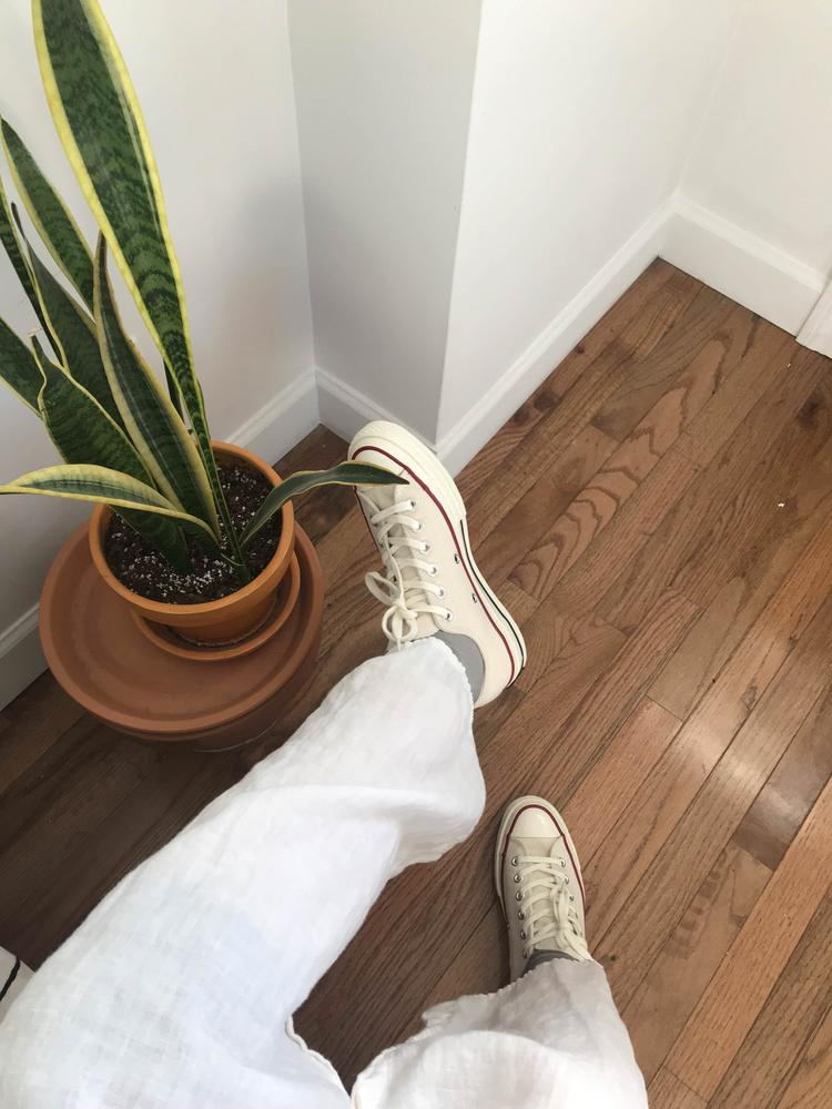 You just really can't go wrong with these timeless sneakers. Converse gifted these to me and I'm so excited to add another pair to the collection. they go with anything from jeans, dresses, skirts, etc.!