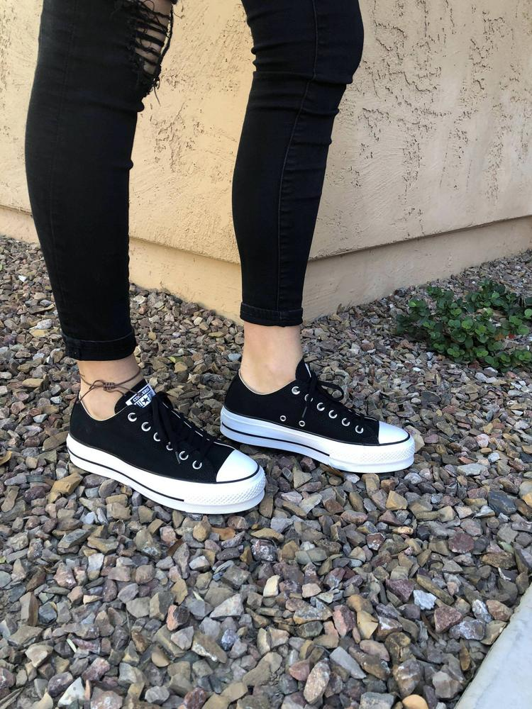 I love these shoes! I am an 8 in all my other chucks, so I ordered an 8, they were a little big so I returned them and got a 7.5, and they work great! So I would size down a half size in these. The shoes are super comfortable, a little more comfortable then my other converse actually. If you are looking for a little height these are great! They are a little heavy but that doesn't really bug me. Over all I really love these shoes and will be wearing them a lot. Thanks to Converse for gifting me these shoes for the review.