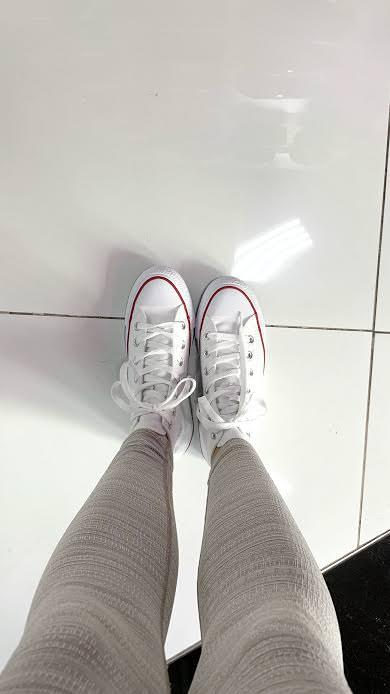 I love the quality of the leather. The white is so pretty and really elevates any look from jeans and a tee to a cute dress. So happy Converse gifted me these sneakers!