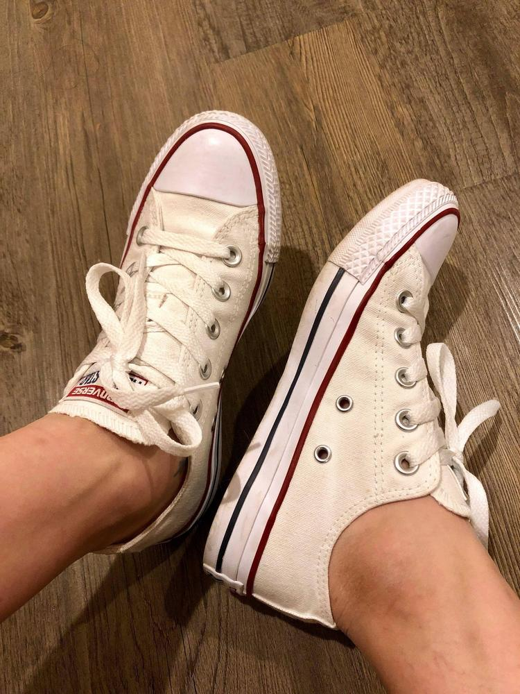 I love the Chucks that Conerse gifted me because they match with everything. I can wear them with jeans, dresses, and so much more. My favorite part is that it has been around for such a long time and is a true classic. It is very comfortable as well, and I can walk around all day in them.