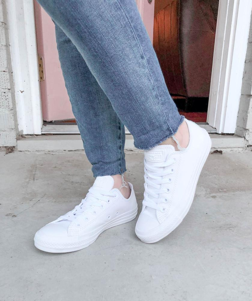 Obsessed with these shoes. I sized down a half size and they fit perfectly (I always size down in Converse). I love that they have that classic silhouette but with a clean, updated look. I can't wait to wear them everywhere! These sneakers were gifted from Converse in exchange for an honest review.