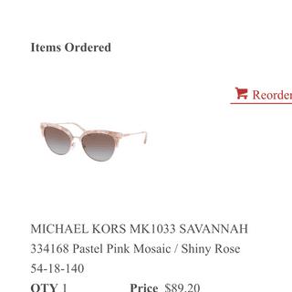 d3bf0086022a Michael Kors MK1033 SAVANNAH | Sunglasses: EZContacts.com