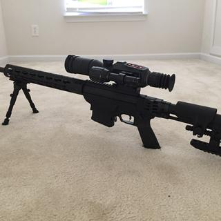 Mounted ATN HD 3x14 scope