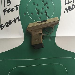 Rapid fire from 15feet worked great. First time ever shooting a gun this small. Great little shooter