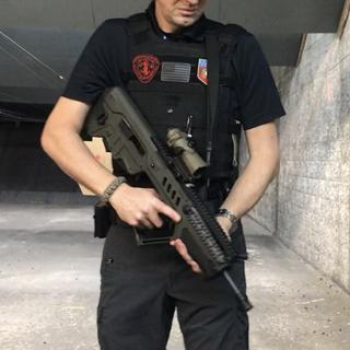 Here with the 9mm conversation kit for the Tavor. Special thanks to GrabAGun from Miami Gun Classes.