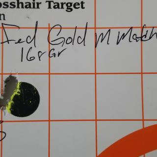 1/2 in group Federal gold medal match 168 grain at 100 yards