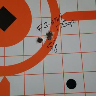 5/8 group Federal gold medal match 175 grain at 100 yards