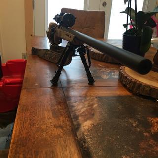 Remington 700 ADL Varmint Package with Scope Black / Camo  22-250 Rem  26-inch 4Rds Heavy Barrel