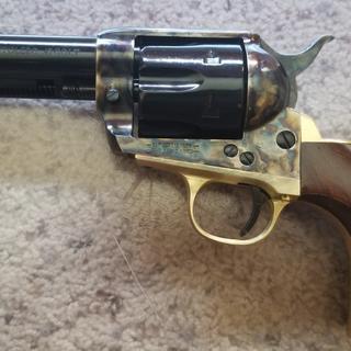 Cimarron Pistolero Revolver Blued 45 LC 4 75 Inch 6Rd