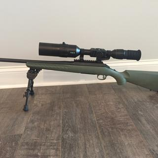 Ruger American Predator with ATN X-Sight 4K Pro for night hunting. Magpul stock is next to be added.