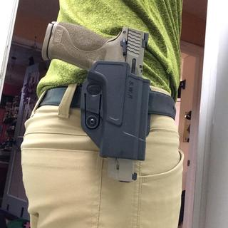 Looks and feels good for an open carry. A bit too big for conceal carry, but that's just my opinion.