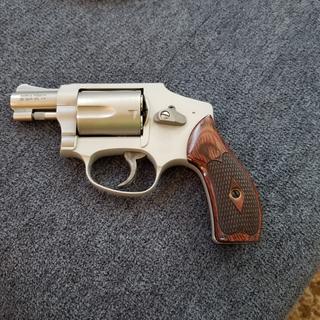 Airweight with Altamont custom grips. Vintage backup gun.