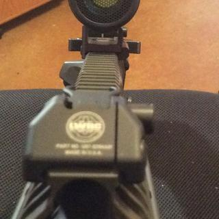 Front view of the trijicon MRO with the ARD.
