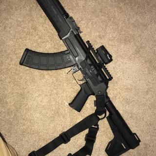 Century Arms C39V2 Pistol Black 7 62X39 10 5-Inch 30RD w/blade