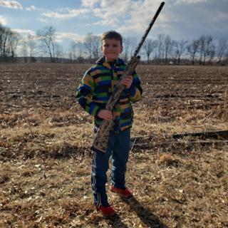 Kane's first time shooting a shotgun