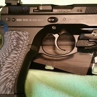 CZ P-01 with G-10 grips & Crimson Trace green laser