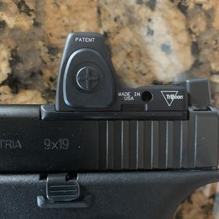 Upgraded to CHPWS adapter plate. Dawson Precision suppressor sights co-witness nicely.