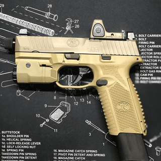 FN 509 Tactical Flat Dark Earth 9mm 4 5-inch 17Rds