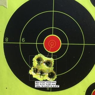 This is average grouping.The gun is capable of much better.