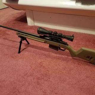 Remington Model 700 ADL Bolt Action Rifle Combo Black 300 Win Mag 26 inch 3  rd With 3-9X40mm Scope