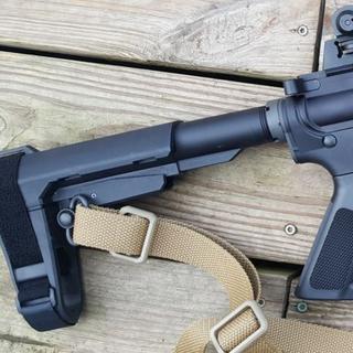 SBA3 brace on AR9.