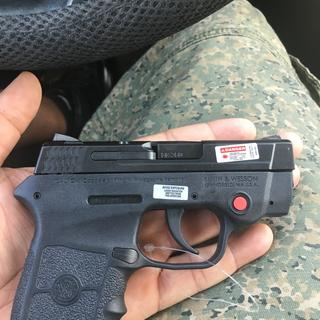 Smith and Wesson Bodyguard  380 ACP 2 8-inch 6Rd Crimson Trace Laser Thumb  Safety