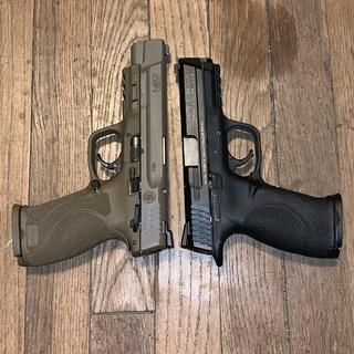 """Side by side with the m&p original 4.25"""" barrel"""