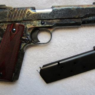 Standard Manufacturing 1911  45 ACP 5-inch 7Rds Case Colored Engraved